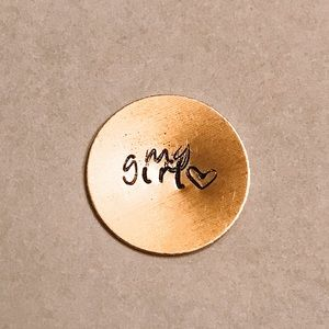 "Jewelry - ""My Girl"" Custom Hand-Stamped Metal Necklace"